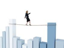 Financial acrobat Stock Images