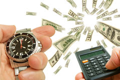 Financial activity. stock images