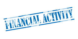 Financial activity blue stamp Stock Image