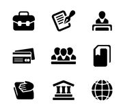 Financial activity and business staff flat icons Royalty Free Stock Images