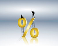 Financial advice. Lowers rates or favorable interest rates Stock Photography