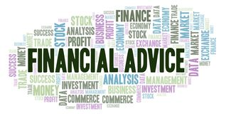 Financial Advice word cloud. Financial Advice word cloud, wordcloud made with text only royalty free illustration