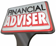 Financial Adviser Business Sign Professional Money Manager Royalty Free Stock Photos
