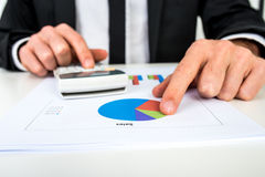 Financial adviser calculating numbers Royalty Free Stock Photo
