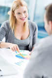 Financial adviser Royalty Free Stock Photo