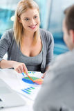 Financial adviser with a client Royalty Free Stock Photos