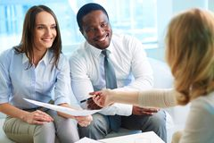 Financial adviser Stock Images