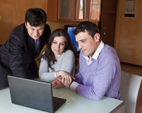 Financial Advisor with Adult Couple Royalty Free Stock Images