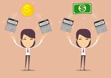 Financial advisor - Bookkeeping services and management. Profit, finances concept. Vector, flat illustration Stock Image