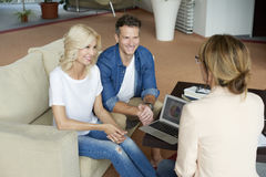 Financial advisor businesswoman and her agent Royalty Free Stock Image