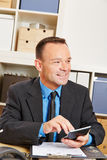 Financial advisor calculating insurance Stock Photography