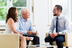 Free Financial Advisor Consulting Couple In Retirement Planning Stock Photo - 93294300