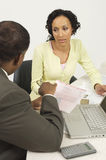 Financial Advisor In Discussion With Woman Stock Photography