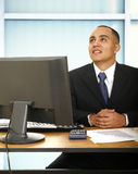 Financial Advisor In His Office Royalty Free Stock Images