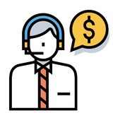 Financial advisor LineColor illustration royalty free illustration