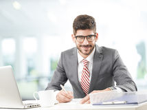 Financial advisor portrait Stock Images