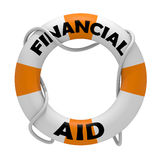 Financial Aid. 3D rendering of a lifesaver as a metaphor for help to survive from drowning as a business Royalty Free Stock Photography