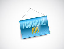 Financial aid banner illustration design. Over a white background Stock Photography