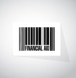 Financial Aid barcode sign concept. Illustration design graphic Stock Photos