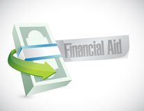 Financial Aid bills sign concept. Illustration design graphic Royalty Free Stock Photography