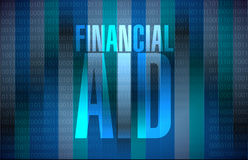 financial Aid binary sign concept illustration Royalty Free Stock Photos