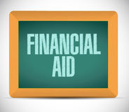 Financial Aid board sign concept. Illustration design graphic Stock Photo