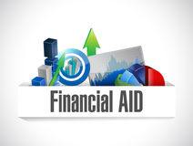 Financial aid business graphs illustration Stock Photo