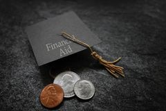 Financial Aid concept Royalty Free Stock Image