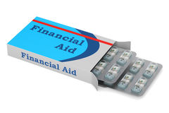 Financial Aid concept, 3D rendering. On white background Royalty Free Stock Images
