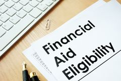 Financial Aid Eligibility. Stock Images