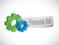 Financial Aid gear sign concept illustration Royalty Free Stock Image