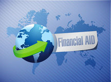 Financial Aid international sign concept. Illustration design graphic Stock Images