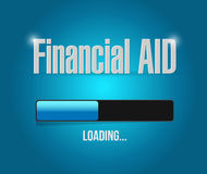 Financial Aid loading bar sign concept. Illustration design graphic Royalty Free Stock Images