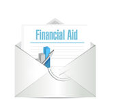Financial Aid mail sign concept illustration Stock Image
