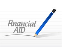 Financial Aid message sign concept. Illustration design graphic Royalty Free Stock Photo