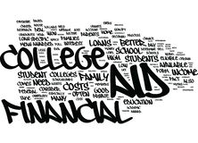 Financial Aid Myths Text Background  Word Cloud Concept. FINANCIAL AID MYTHS Text Background Word Cloud Concept Royalty Free Stock Images