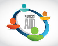 Financial Aid people network sign concept. Illustration design graphic Royalty Free Stock Image