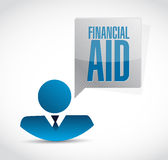 Financial Aid people sign concept illustration Royalty Free Stock Photo