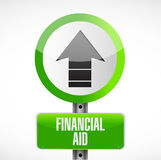 Financial Aid road sign concept illustration Royalty Free Stock Images