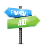 Financial Aid road sign concept Royalty Free Stock Photo