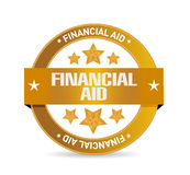 Financial Aid seal sign concept. Illustration design graphic Royalty Free Stock Images
