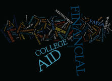 Financial Aid When Should I Apply For Text Background Word Cloud Concept Stock Photo