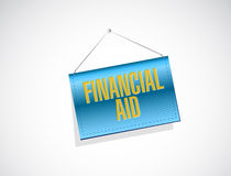 Financial Aid sign concept illustration Royalty Free Stock Photo