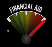 Financial Aid speedometer sign concept. Illustration design graphic Stock Photo