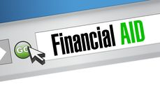 Financial Aid web browser sign concept Stock Image
