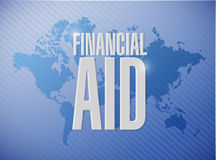 Financial Aid world sign concept Stock Image