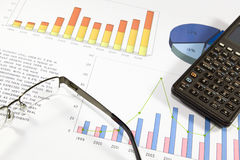 Financial analysis. Financial audit of the balance of a successful company Royalty Free Stock Image