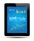 Financial Analysis. Data on a tablet. Vector file Royalty Free Stock Photos