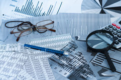 Financial analysis Stock Photography