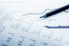 Financial accounting stock market graphs charts Royalty Free Stock Image